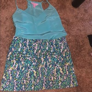 Lily Pulitzer marching skirt/top outfit